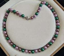 8mm multicolor Akoya Shell Pearl necklace AAA 18 inches  Y03