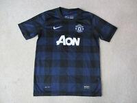 Nike Manchester United Soccer Jersey Youth Large Blue Black Futbol Kids Boys