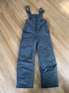 CHAMPION Youth Boy's Winter Snow Pants with Bib - Size L 12/14 Gray