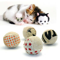 Lovely 4Pcs Pet Ball Interactive Cat Toys Play Chewing Scratch Catch Toys Ball