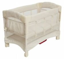 Arm's Reach Mini Ezee Euro 2 in 1 Baby Co-Sleeper Bedside Bassinet Natural NEW