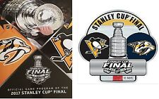 2017 STANLEY CUP FINAL PROGRAM PITTSBURGH PENGUINS NASHVILLE PREDATORS NHL CHAMP