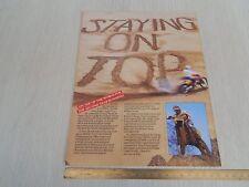 Brochure depliant originale Honda cr 80 125 250 500 cross 1986 prospekt