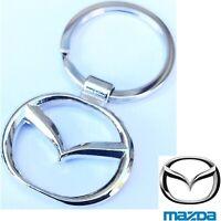 MAZDA Car 3D Logo Keychain Metal Reflective Chrome Keyring Keyfob Key Chain New