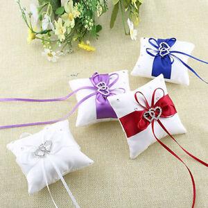 Diamond Engagement Wedding Ring Pillow Cushion Bearer 10*10cm Valentine's Day