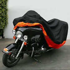 XXXL Motorcycle Cover Waterproof Outdoor UV Bike Rain Protector Black & Orange