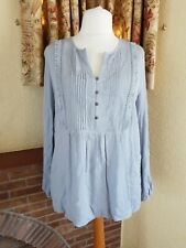 LIGHT BLUE CRINKLE BUTTON PLEAT TOP FROM NEXT SIZE  18  20 - SUMMER HOLIDAY