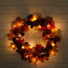 Fall Autumn Pumpkin Wreath Harvest Door Decoration Halloween Thanksgiving Decor