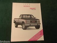 MINT 1990 GMC TRUCK SIERRA 24 PAGE ORIG SALES BROCHURE 8-1/2 X 11 NEW (BOX 450)