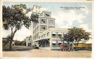 H70/ Concordia Kansas Postcard c1910 Concordia Milling Company Mill 3