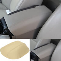 Leather Armrest Car Center Console Lid Cover Pad for Volvo S80 1999-2006 Beige