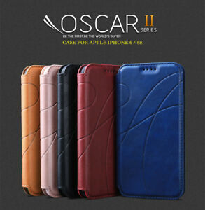 REEXIR® Leather Wallet Magnetic Flip stand Case Cover for Apple iPhone 6 6s Plus