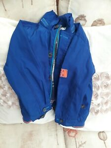 Ted Baker Boys Blue Waterproof Jacket Age 2-3 With Hood ** good Condition**