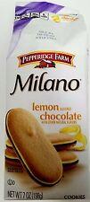 NEW Pepperidge Farm Milano Lemon Flavored Chocolate Cookies FREE WORLD SHIPPING