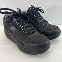 Sketchers Shape Ups Mens 7 Black Walking Toning Fitness Athletic Shoes 52000