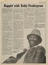 Teddy Pendergrass Interview/Article