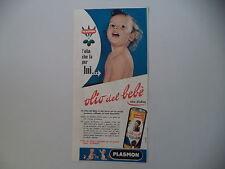 advertising Pubblicità 1962 OLIO DEL BEBE' PLASMON