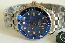 Alpha Seamaster Date Automatic Gents Watch Blue Ripple Dial Brand New !!!!
