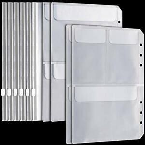 10pcs A5 6 Ring Binder Pockets3 Types- FANDAMEI 6pcs Zip Lock Envelope + 2pcs...