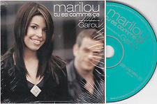 CD CARTONNE CARDSLEEVE GAROU/MARILOU BOURDON 3T TU ES COMME CA  TBE