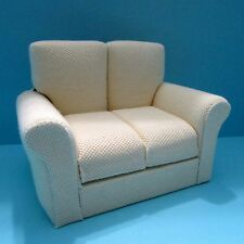 Dollhouse Miniature Living Room Love Seat in Light Yellow / Cream ~ T6787-2