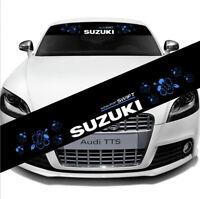 Car Front Reflective Windshield Decal Window Vinyl Banner Sticker for SUZUKI