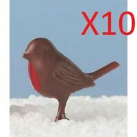 Christmas Cake Decorations 10 x robins red robin / yule log / cupcake / cakepops