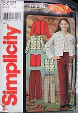 Simplicity 5869 Girl's Pants Knit Tops Sewing Pattern Sizes 7 8 10 12 14 Uncut