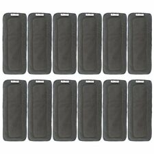 Alva Baby 5 Layer Charcoal Bamboo Inserts Reusable Liners Cloth Diapers 12pcs