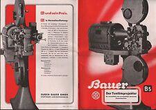 STUTTGART-UNTERTÜRKHEIM, Prospekt 1939 Tonfilm-Projektor B5, Eugen Bauer GmbH