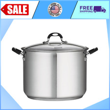 New listing New ~ Tramontina 16 Quart Stainless Steel Covered Stock Pot