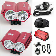 2X CREE 5000Lm Bike light Front Mountain Bicycle Headlight Headlamp Battery Red