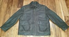 COLUMBIA Soft Leather Riding Bomber Jacket Mens Large Winter Insulated Lined