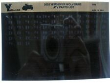Yamaha YFM350 2002 Wolverine YFM350FXP Parts List Manual Microfiche r95