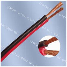 20m of Black/Red 2 x 0.50mm HiFi/Home/Car Audio Loudspeaker/ Speaker Cable /Wire