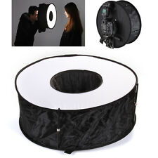 "18"" 45cm Easy-Fold Circular Macro Ring Softbox Reflector for Speedlite Flash"