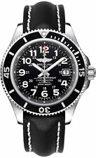 Breitling Mens A17365c9-bd67-428x Superocean II 42 Automatic Black Leather Watch