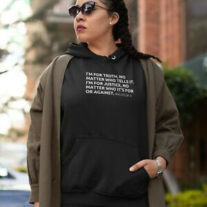 Malcolm X Truth & Justice Hoodie Civil Rights USA Black History BLM