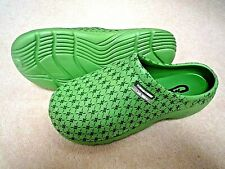 NEW Town & Country green patterned lightweight CLOGGIES--Size 6 UK adult.