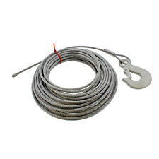 """ABN® Trailer Tie Down Strap Cable 50' Foot x 3/16"""" Inch with Hook & Winch Mount"""