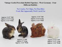 Goebel Vintage Porcelain Rabbit Figurines - West Germany - 4 Different Rabbits