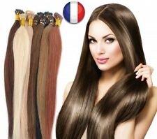 50 100 200 EXTENSIONS CHEVEUX POSE A CHAUD REMY NATURELS 49/60CM 0,5G-1G AAA PRO