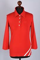 Barbour Long Sleeve Polo Shirt Size M UK 12
