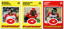 2016 OPC CFL Calgary Stampeders Lot of 3 Cards , Marquay McDaniel, Hughes, Bell