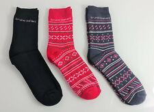 6 Paar Bruno Banani Damen Winter Sport Thermo-Socken Pink, Grey, Black 39 - 42