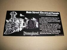1986 Disneyland Main Street Electrical Parade Flyer