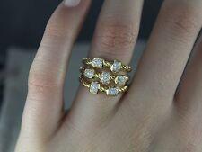 $2,950 David Yurman 18K Yellow Gold Pave Set Diamond Confetti Cable Ring Band