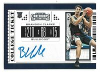 Brandon Clarke Rookie Auto 2019-20 Contenders Draft Picks Memphis Grizzlies RC