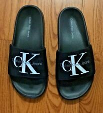 CALVIN KLEIN BLACK SLIDES NEW WITHOUT TAGS SIZE 5