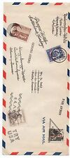 Old Cover with Stamps from China, Czechoslovakia, Yugoslavia & Hungary